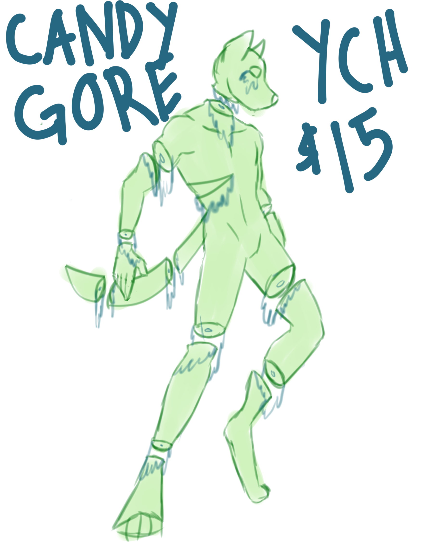 Fn Artwork Candy Gore Ych Darkness accumulated before the draped shop window over which hang an oversized candy cane, pressing its ear against the cool glass. fn artwork candy gore ych