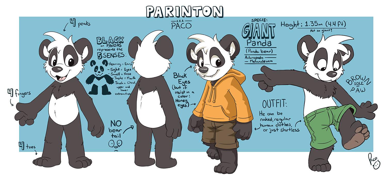 Fursuit Panda fn - artwork - parinton ref sheet